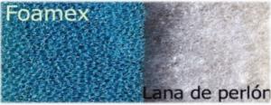 Vista de un filtro de material sintético.